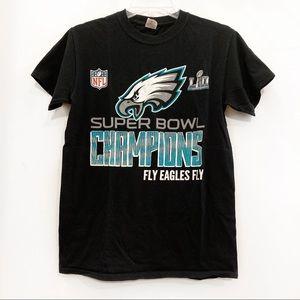 NFL Eagles Super Bowl Champions T-Shirt Black NWOT